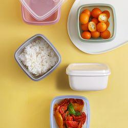실리콘 전자레인지 냉동 밥팩용기2개세트(370ml)(4colors)