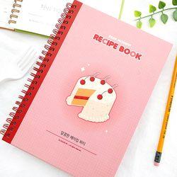제이로그 A5 링제본 레시피북(레시피노트)-달콤한 케이크