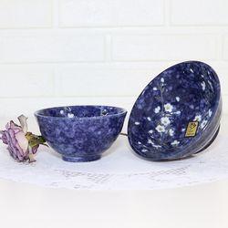 블루벚꽃 도자기식기 데일리 감성식기