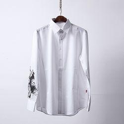 그린바나나 남자셔츠 화이트 남방 GB graphic shirts