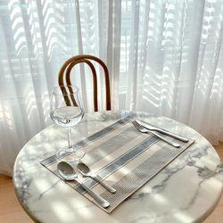 방수 테이블 매트 식탁 매트 PVC매트 로얄스트라이프 30X40