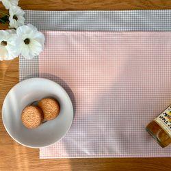 방수 테이블 매트 식탁 매트 PVC매트 체크패턴 30X40