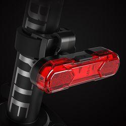 PH 자전거 킥보드 충전식 USB 5핀 LED 후미등 라이트 레드