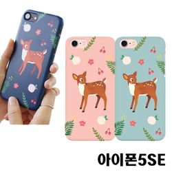 아이폰5SE 꽃사슴 3D하드케이스