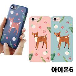 아이폰6 꽃사슴 3D하드케이스
