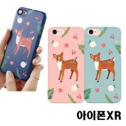 아이폰XR 꽃사슴 3D하드케이스