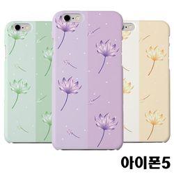아이폰5 연꽃 슬림 하드케이스