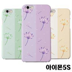 아이폰5S 연꽃 슬림 하드케이스