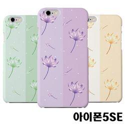아이폰5SE 연꽃 슬림 하드케이스