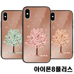 아이폰8플러스 벚꽃 미러범퍼케이스