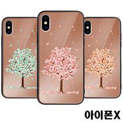 아이폰X 벚꽃 미러범퍼케이스