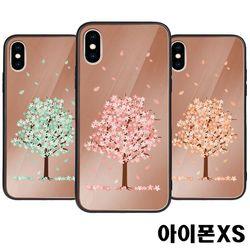 아이폰XS 벚꽃 미러범퍼케이스