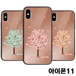 아이폰11 벚꽃 미러범퍼케이스