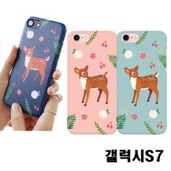 갤럭시S7 G930 꽃사슴 3D하드케이스