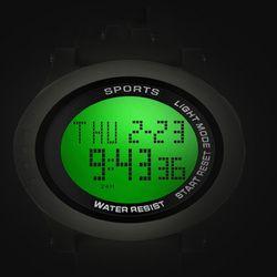 디지털 Aiqinuo 리버스Black 스포츠손목시계 와치INS