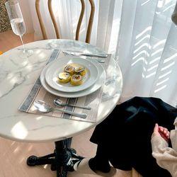 [2Set] 방수 테이블 식탁 매트 PVC매트 로얄스트라이프 30X40