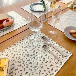[2Set] 방수 테이블 식탁 매트 PVC매트 얼그레이 30X40