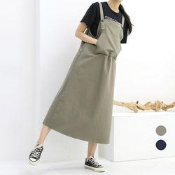 [네오쿠비카]빅사이즈 포켓 치노 멜빵원피스 lov715