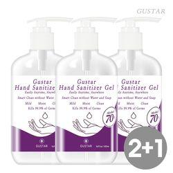 Gustar 에탄올70 손소독제 겔타입 500ml 대용량 3개