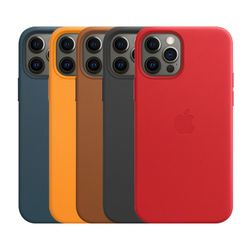 [Apple] 애플 정품 아이폰12  아이폰12 프로 가죽 레더 케이스