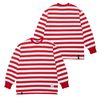 STRIPE LONG SLEEVES T-SHIRTS RED