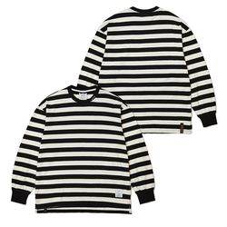 STRIPE LONG SLEEVES T-SHIRTS BLACK