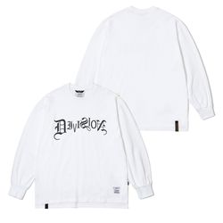 TYPO LONG SLEEVES T-SHIRTS WHITE