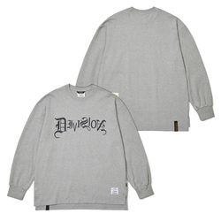 TYPO LONG SLEEVES T-SHIRTS GRAY