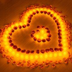 결혼 프로포즈 LED 촛불 용품 세트 B