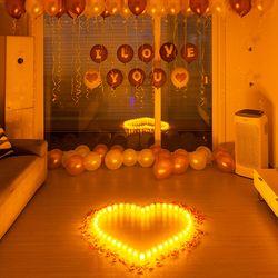 결혼 프로포즈 LED 촛불 용품 세트 A