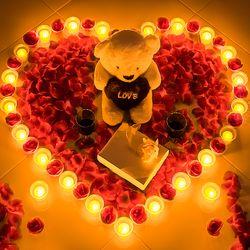 결혼 프로포즈 LED 촛불 용품 세트 L