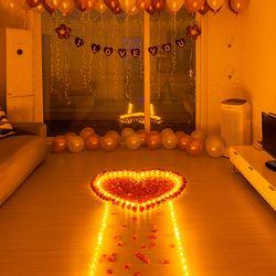 결혼 프로포즈 LED 촛불 용품 세트 D
