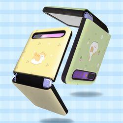 양이 냥 패턴 더블가드 일체형 갤럭시 제트플립 5G 케이스