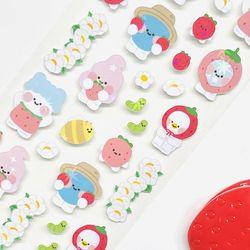 [당일발송] 딸기마을 홀로그램 스티커