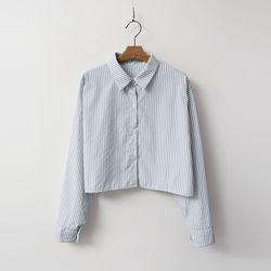 N Stripe Crop Shirts
