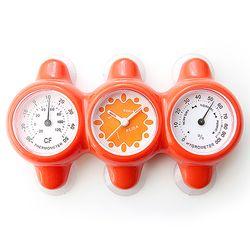 온습도시계 온도계+습도계+흡착 욕실 시계 벽걸이