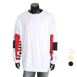 [쿠비코]숄더 컬러배색 레터 박스핏 티셔츠 COT-MZ143