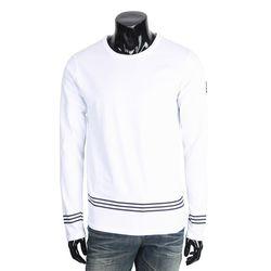 [쿠비코]숄더 요트 하단 3선 라인 긴팔 티셔츠 MZ155