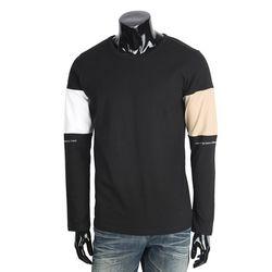 [쿠비코]숄더 아더 킬러 배색 긴팔 티셔츠 MZ158