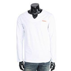 [쿠비코]스트라이프 브이넥 긴팔 티셔츠 MZ156