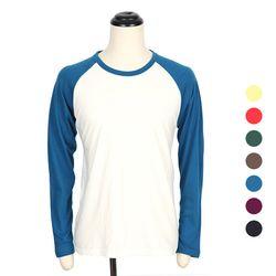 [쿠비코]무지 긴팔 나그랑 티셔츠 COT-MZ170
