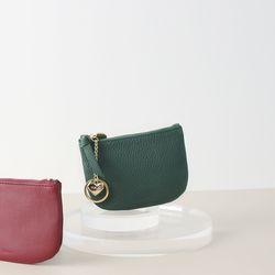 [이니셜 커스텀] Half moon wallet - Green