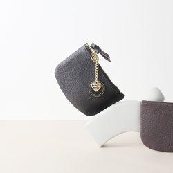 [이니셜 커스텀] Half moon wallet - Dark brown