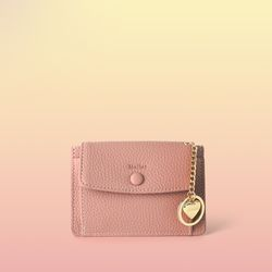 [이니셜 커스텀] Big pocket point wallet - Pink