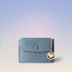 [이니셜 커스텀] Big pocket point wallet - Sky blue