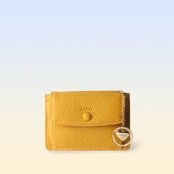 [이니셜 커스텀] Big pocket point wallet - Yellow