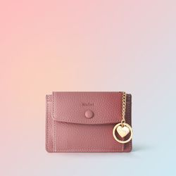 [이니셜 커스텀] Big pocket point wallet - Rose pink