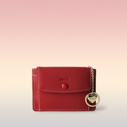 [이니셜 커스텀] Big pocket point wallet - Red