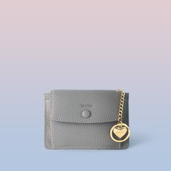 [이니셜 커스텀] Big pocket point wallet - Gray