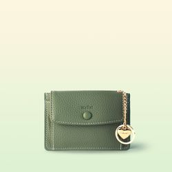 [이니셜 커스텀] Big pocket point wallet - Khaki
